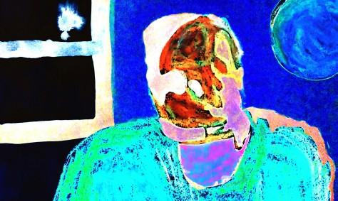 Portrait fauve