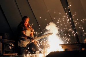 Siegfried forging his sword