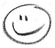18935122-crayon-peint-smiley-dans-le-dos-blanc-banque-dimages